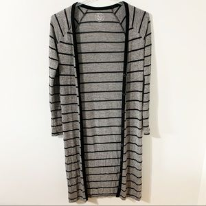 So Juniors Striped Button Duster Cardigan Sweater